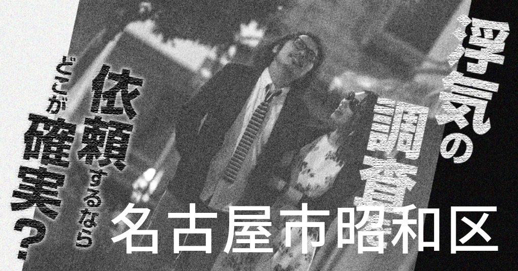 愛知県名古屋市昭和区で浮気の調査を依頼するならどこが確実?費用がムダにならないおススメ興信所の選び方など