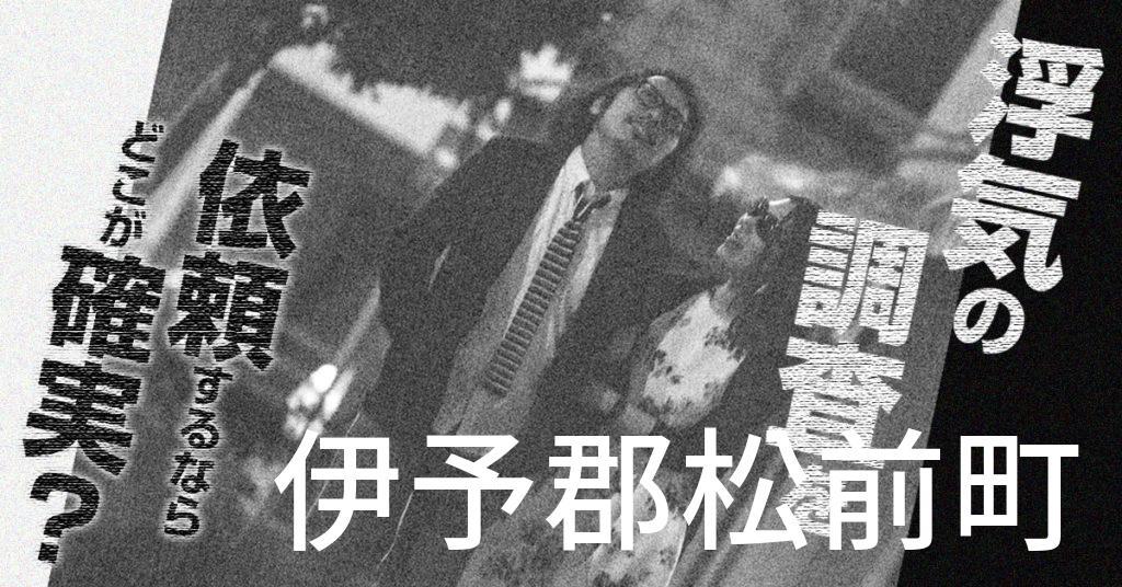 愛媛県伊予郡松前町で浮気の調査を依頼するならどこが確実?費用がムダにならないおススメ興信所の選び方など