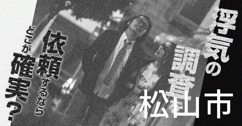 愛媛県松山市で浮気の調査を依頼するならどこが確実?費用がムダにならないおススメ興信所の選び方など