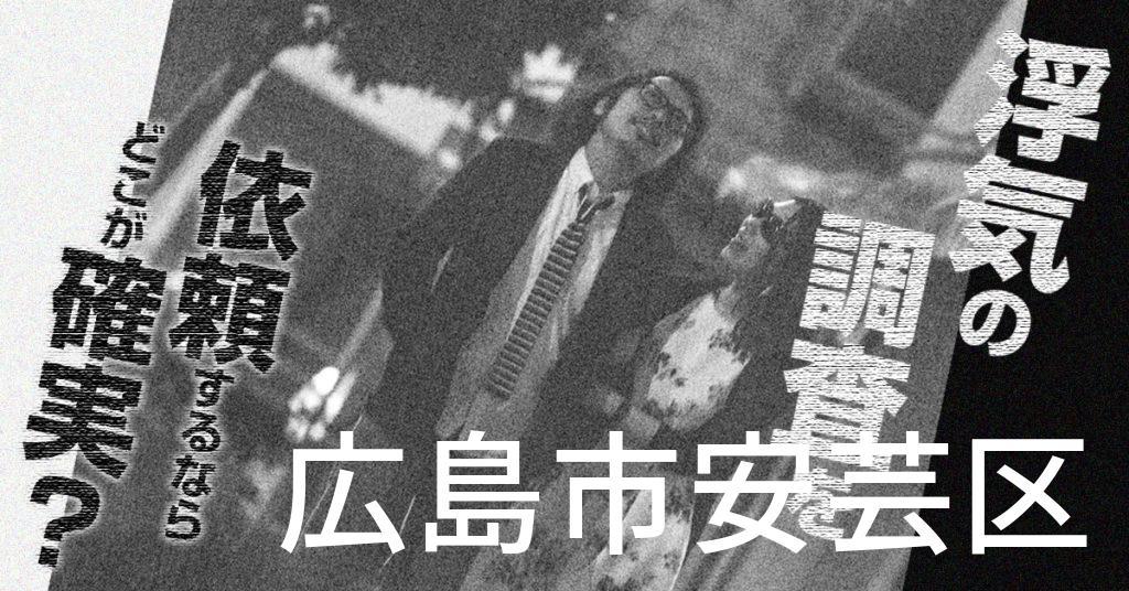 広島県広島市安芸区で浮気の調査を依頼するならどこが確実?費用がムダにならないおススメ興信所の選び方など