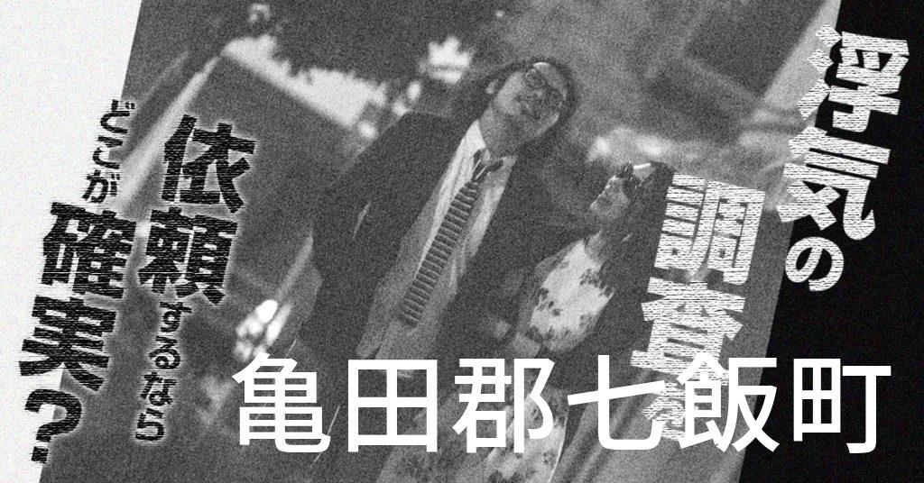 北海道亀田郡七飯町で浮気の調査を依頼するならどこが確実?費用がムダにならないおススメ興信所の選び方など