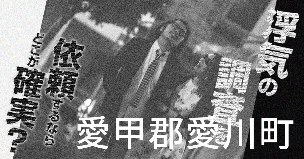 神奈川県愛甲郡愛川町で浮気の調査を依頼するならどこが確実?費用がムダにならないおススメ興信所の選び方など