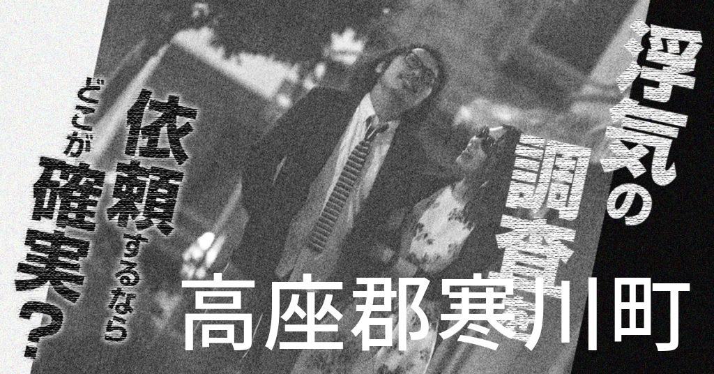 神奈川県高座郡寒川町で浮気の調査を依頼するならどこが確実?費用がムダにならないおススメ興信所の選び方など