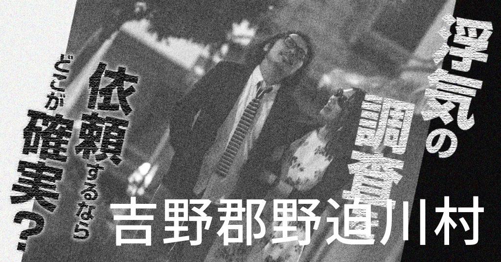 奈良県吉野郡野迫川村で浮気の調査を依頼するならどこが確実?費用がムダにならないおススメ興信所の選び方など