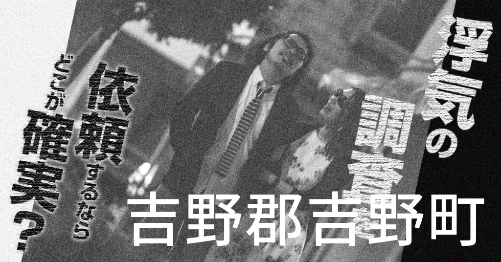 奈良県吉野郡吉野町で浮気の調査を依頼するならどこが確実?費用がムダにならないおススメ興信所の選び方など