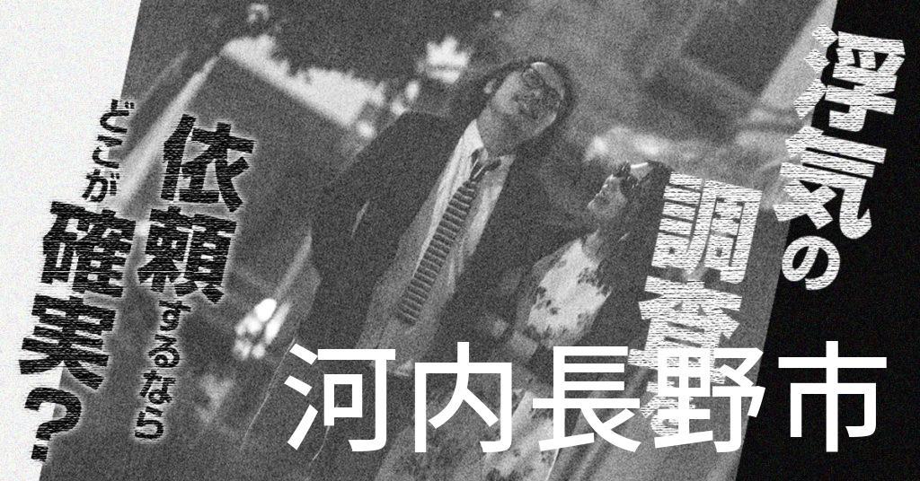 大阪府河内長野市で浮気の調査を依頼するならどこが確実?費用がムダにならないおススメ興信所の選び方など