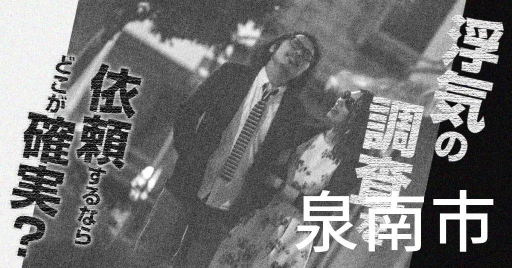 大阪府泉南市で浮気の調査を依頼するならどこが確実?費用がムダにならないおススメ興信所の選び方など