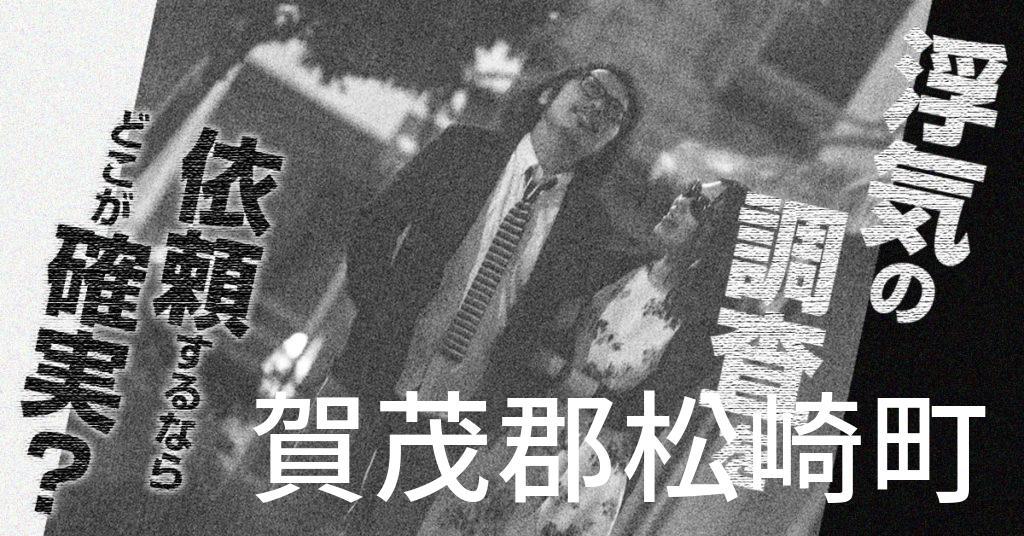 静岡県賀茂郡松崎町で浮気の調査を依頼するならどこが確実?費用がムダにならないおススメ興信所の選び方など