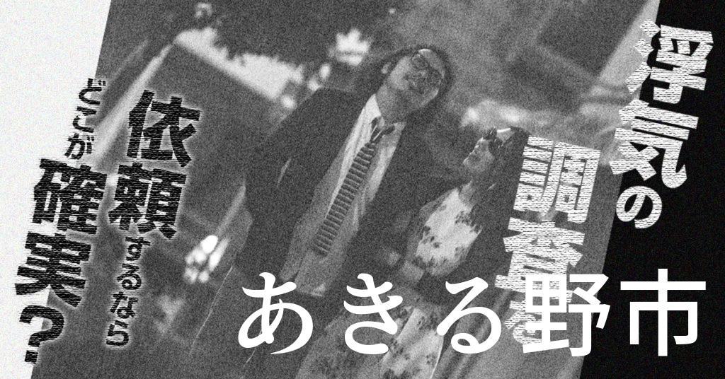 東京都あきる野市で浮気の調査を依頼するならどこが確実?費用がムダにならないおススメ興信所の選び方など