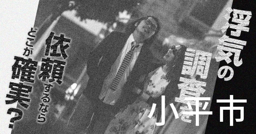 東京都小平市で浮気の調査を依頼するならどこが確実?費用がムダにならないおススメ興信所の選び方など